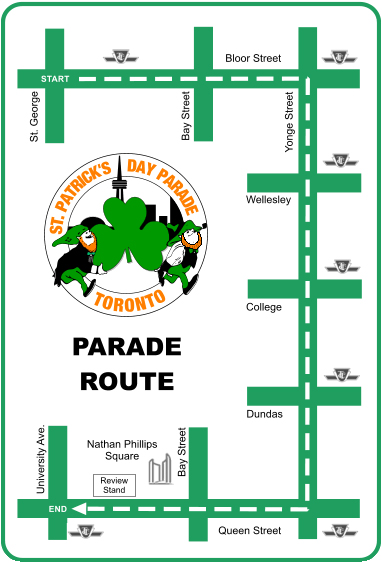 St. Patrick's Day Parade Route 2014